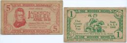 1 +  5    WOODEN NICKEL   JACKSONVILLE  1939   UNC