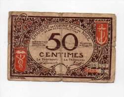 Nice - 50 Cts - 25 Avril 1917 - Série 71 - Sans Filigrane - Chambre De Commerce