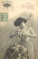 - Ref F47 - Bergeret -  Insectes - Insecte - La Puce - Puces - Poeme De Armand Gaboriaud -  Carte Bon Etat - - Bergeret