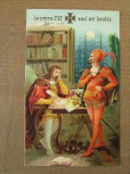 Kalender Calendrier 1886 Mephisto Crême 232 Wilh Hebebrand Elberfeld Berlin Bruxelles Margarethe - Kalender