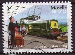 AA1004 -Patrimoine Des Trains : Moselle : BB 12125 - Oblitéré - Année 2014