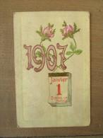 Cpa/pk Millésime 1907 Bonne Année - Nouvel An