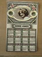 Cpa/pk Millésime 1911 Bonne Année Calendrier Jeune Femme Rare - Nouvel An