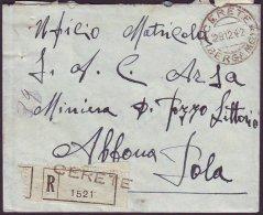 ITALIA - Busta -  CERETE  BERGAMO  To ISTRIA - 1942 - 1944-45 République Sociale