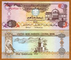 United Arab Emirates 5 Dirhams 2009 Pick 26 UNC - Ouganda