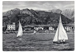 Italie- Marina Di Massa- Panorama Dal Mare- Vue Générale Prise De La Mer- Cpsm Noir Et Blanc 1963 - Massa