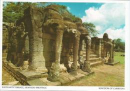 CAMBODGE. Monument Temple  Angkor Wat, (Elephants Terrace), Carte Postale Neuve - Cambodia