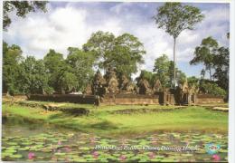 CAMBODGE. Monument Temple Banteay Srei, Citadelle Des Femmes, Carte Postale Neuve - Camboya
