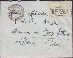 ITALIA - Busta -  CERETE  BASSO  BERGAMO - 1942 - Marcophilie