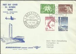 FINLANDIA CC CON SELLO Y MAT JUEGOS OLIMPICOS HELSINKI 1952 DEPORTE - Sommer 1952: Helsinki