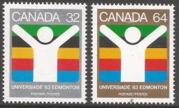 "Canada. 1983 ""Universiade ´83"" World University Games, Edmonton. MH Complete Set. SG 1088-1089 - 1952-.... Reign Of Elizabeth II"