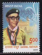 India MNH 2009,  Danmal Mathur, Scout, Scouts, - Nuevos