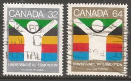 "Canada. 1983 ""Universiade ´83"" World University Games, Edmonton. Used Complete Set. SG 1088-1089 - 1952-.... Reign Of Elizabeth II"
