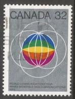 Canada. 1983 World Communications Day. 32c Used. SG 1083 - 1952-.... Reign Of Elizabeth II