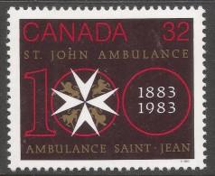 Canada. 1983 Centenary Of St John's Ambulance In Canada. 32c MH. SG 1087 - 1952-.... Reign Of Elizabeth II