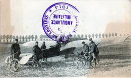 AVIATEURS EN RECONNAISSANCE  TAMPON HOPITAL AMBULANCE MILITAIRE 1914       -Y- - Louviers