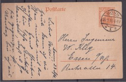 Germany1918: Postcard Used From Bonn To Essen - Allemagne
