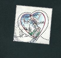N° 3633 Saint Valentin - Coeurs De Karl Lagerfeld  Tailleur Chanel 2004 France   Oblitéré - France
