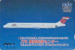 Carte Prépayée Japon - AVION JAL / JTB - AIRLINES Airplane Plane Japan Prepaid Card - FLUGZEUG QUO Karte - Aviation 797 - Aviones