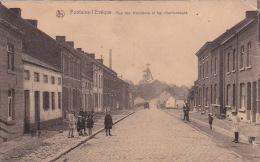 Fontaine-l'Ev�que 53: Rue des Houill�res et les charbonnages 1929