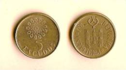 PORTUGAL 1986-1998 5 Escudos Km632 - Portugal