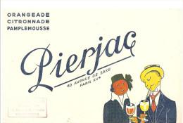 Buvard Pierjac Orangeade Citronnade Pamplemousse Offert Par Alexandre Petit Représentant à Chateauroux - Softdrinks