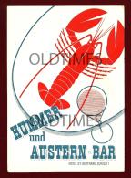SWITZERLAND - ZURICH - HOTEL ST. GOTTHARD - HUMMER UND AUSTERN-BAR  - 1950 ADVERTISING PC - Advertising