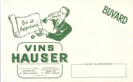 Buvard HAUSSER Bu Et Approuvé Vins Hausser Charenton Et Paris - Liquore & Birra