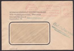 Naumburg (Saale) Behördenpost 1951 WMW Vereinigung Volkseigener Betriebe Honmaschinenbau - [6] República Democrática