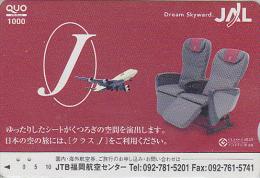 Carte Prépayée Japon - AVIATION - JAL  - Dream Skyward - Japan Prepaid Card Quo Karte - Avion 809 - Avions