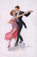 AK KÜNSTLERKARTE MÄDCHEN TANZ DANCE SIGNIERT KARTE,ART DECO, W.S.S.B.No.5698..ASICHTSKARTEN 1921, - Couples