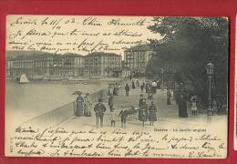 EGA-01 Genève Le Jardin Anglais, TRES ANIME. Précurseur. Cachet 1902. Jullien 1294 - GE Genève