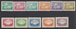 Bolivia 1947 SC 318-323, C113-C117 MNH Set Mountains - Bolivia