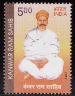 India MNH 2010, Kanwar Ram Sahib.  Sindhi Singer And Sufi Poet, - Nuevos
