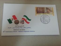 2014 - FDC Joint Issue Iran - Mexico - Iran - Iran