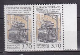 N° 2608 Centenaire Du 1er Tramway éléctrique à Clermont-Ferrand: 1 Paire De 2 Timbres Neuf - Unused Stamps