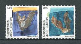 LIECHENSTEIN 2005 N°  1330/1331 ** Neufs  = MNH Superbes  Cote 9 € Faune Chauve-souris Mammifères  Fauna Animaux - Liechtenstein