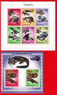 GUINEA BISSAU 2010. FAUNA CROCODILES. SH+SS MNH** SALE!!! - Guinea-Bissau