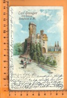 HOCHHEIM: Stolzerfels Lithographie , Publicité Carl Graeger Sekt. Kellerei - Hochheim A. Main