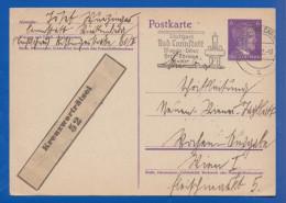 Deutschland; DR; 6 Pf. Adolf Hitler 1942; Ganzsache Stempel Bad Cannstatt - Germany