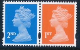 GREAT BRITAIN 2001, MACHIN Questa Printing, Pair1st+2nd, Perf.15x14 Ex Retail Bklt**MNH - Nuovi