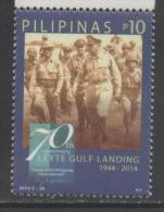 PHILIPPINES , 2014 ,MNH, WWII, GENERAL MACARTHUR, LEYTE GULF LANDING,1v - WO2