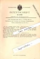 Original Patent - Lars Westergaard Beck In Duffel / Mechelen , 1881 , Trocknen Von Frischem Thon , Keramik !!! - Duffel
