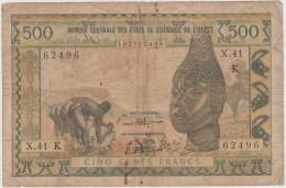 AFRIQUE  DE L OUEST  500F   BANKNOTE  FINE  Ref  681 - Suráfrica