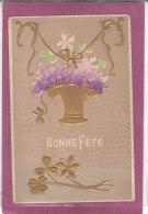 BONNE FÊTE  ( Carte Gauffrée ) - 1er Avril - Poisson D'avril