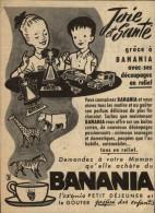 CHOCOLAT - BANANIA - Publicité Tirée D´une Revue (Ames Vaillantes De 1955) Et Collée Sur Carton - - Publicités