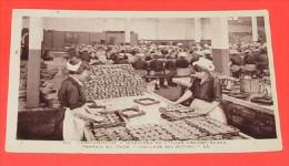 Concarneau - ( Finistère ) - Intérieure De L'usine Provost Barbe - Travail Du Thon Huilage Des Boites  ---------266 - Concarneau