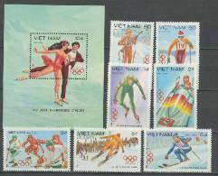 Vietnam 1984 Olympic Games Sarajevo Set Of 7 + S/s MNH - Winter 1984: Sarajevo
