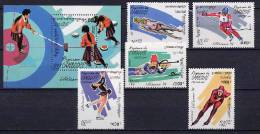 Cambodia 1994 Olympic Games Lillehammer Set Of 5 + S/s MNH - Hiver 1994: Lillehammer