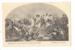 12033 - Erzherzog Karl In Der Schlacht Bei Aspern (22.Mai 1809) Ölgemälde Von P. Krafft Wien 1909 - Expositions